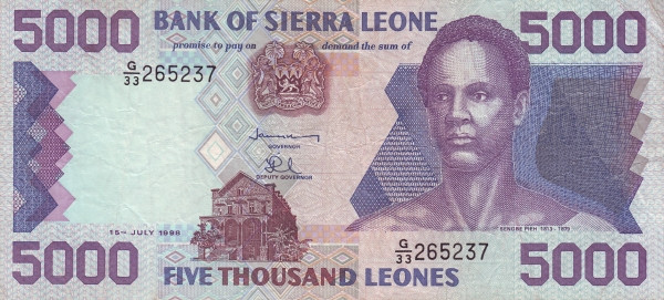 Sierra Leone 5000 Leones (1993-1998) - Foreign Currency